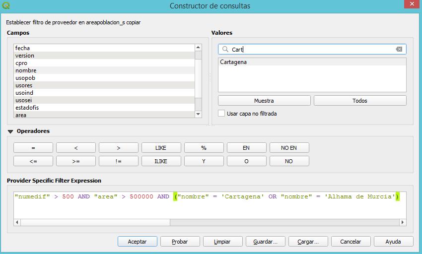constructor consultas operador OR