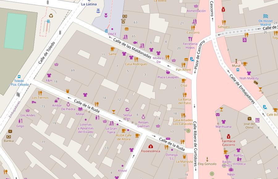 OSM Open Street Map Madrid